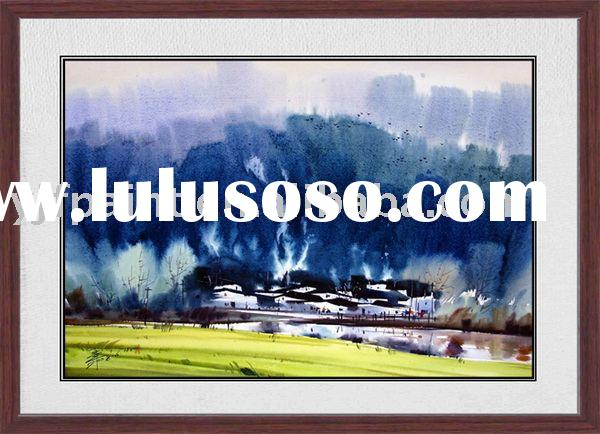 modern art printing watercolor painting -62117
