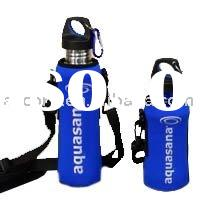 neoprene water bottle cover with strap