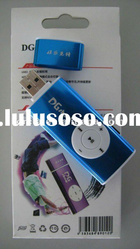 new model mini clip mp3 player with TV function can use as a micro sd card reader
