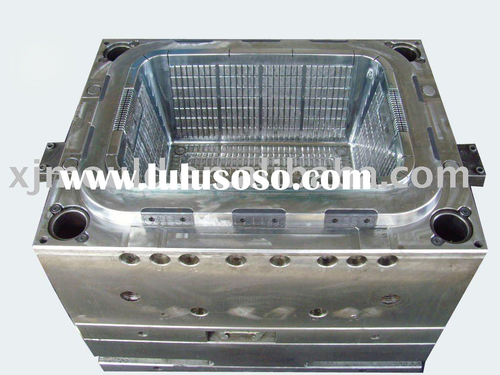plastic foldable pallet container mould