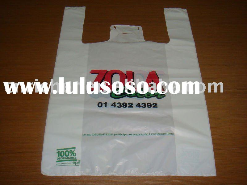plastic t-shirt degradable supermarket shopping bag