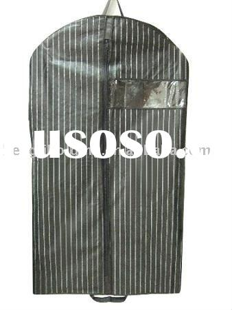 pp nonwoven garment bag,suit cover with zipper