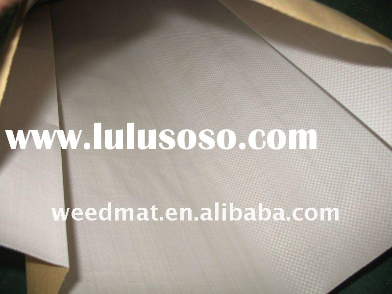 pp woven fabric laminated with brown kraft paper for bags