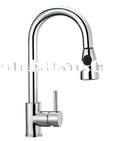 pull out/pull down spout faucet