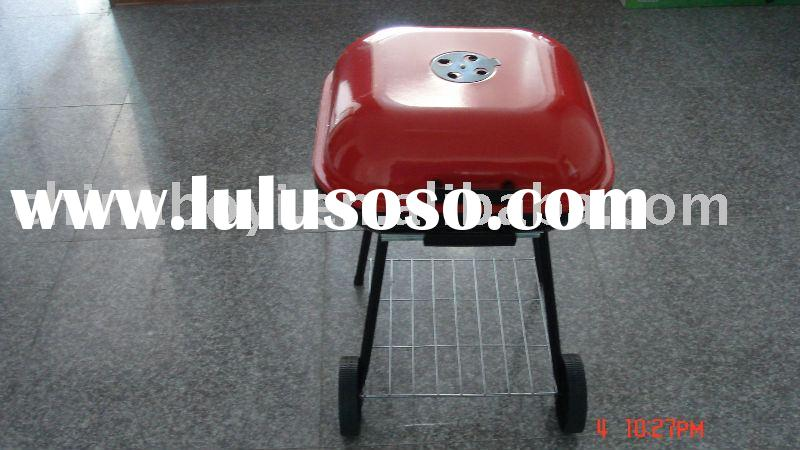 red charcoal barbecue /bbq grill
