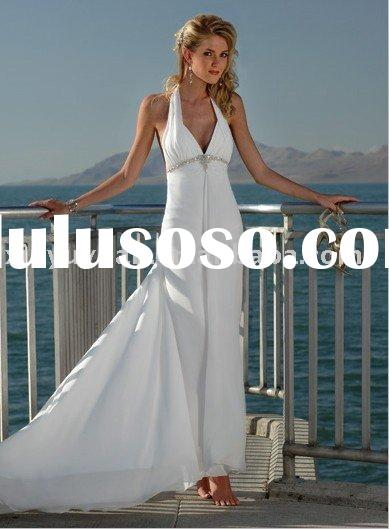 Halter Style Beach Wedding Dresses