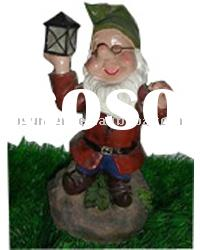 solar father Christmas/Santa Claus lights/lamps great use for decorating your garden/balcony/window