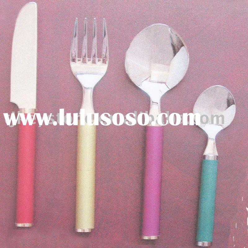 spoon and fork set for baby Stainless Steel Flatware Set Cutlery dinnerware tableware cookware kitch