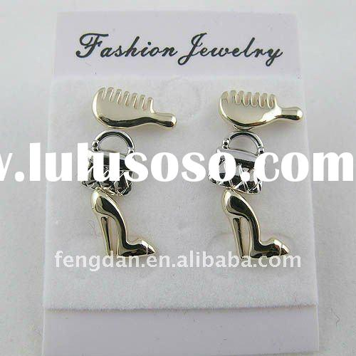 three pairs small and cute women's fashion accessories earring set suitable for promotion