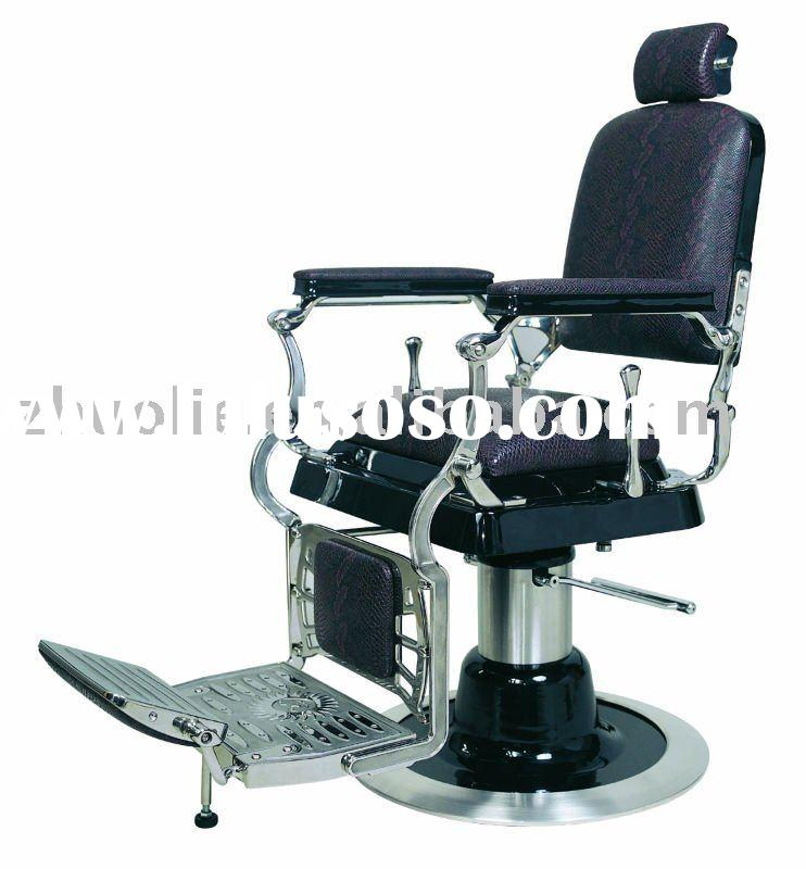 traditional stainless steel barber chair of salon furniture