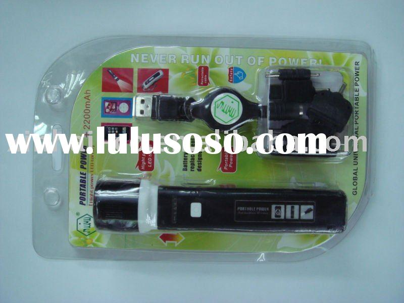 universal mobile charge with high power LED torch