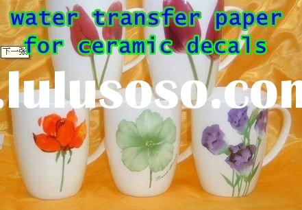 water slide transfer paper for ceramic, glass decals