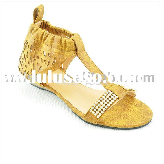 wholesale,2010 women's sandals,women shoes,PU,wedge heel,rubber,leisure,for young ladies