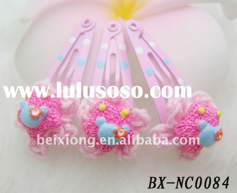 wholesale hair accessories snap hair clip mini hairpins for kids girl drop hairclips light pink hand