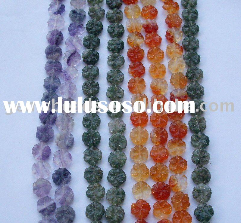 wholesale semi precious stone carved bead craft