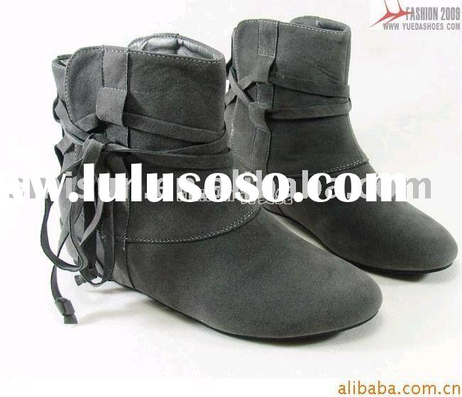 wholesale,women boots,flannelette,flat heel,rubber,ankle boots,for young ladies