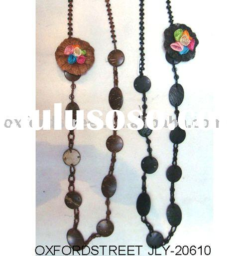 wood beads jewelry,fashion accessories,man made necklace JLY-20610-2