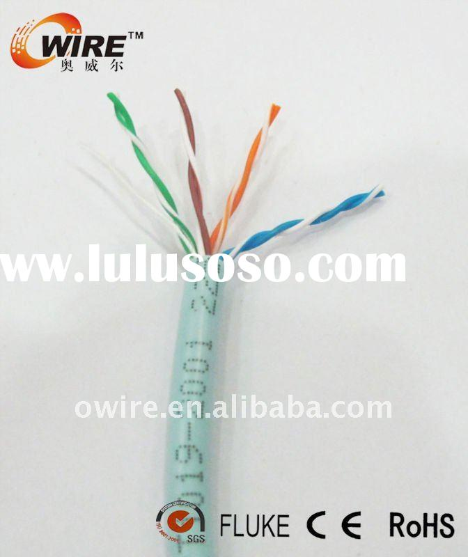 0.45mm 100% pure copper fluke test cat5e AMP lan cable