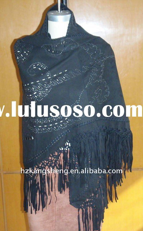 100% GENUNIE SOFT SUEDE LEATHER SHAWLS FOR LADIES WEARING