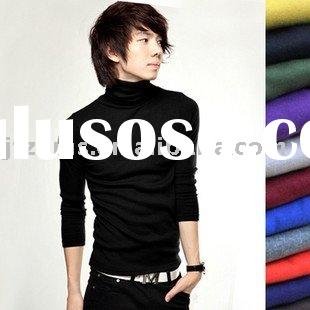 100%cotton long sleeve Korean style men pullover sweater