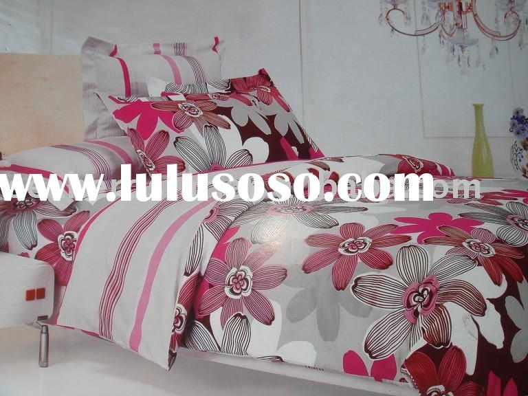 100%polyester printed bedding set / Fabric --3PCS