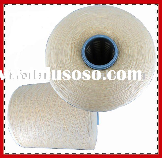100% raw white spun polyester single 20s yarn for knitting