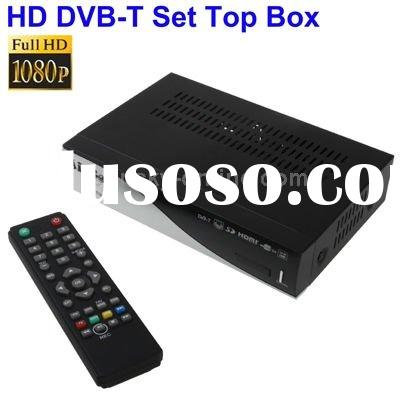 1080P HD DVB-T Set Top Box with Remote Controller, Support Recording Function and USB 2.0 Interface,