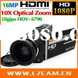 10MP CMOS 1080P 3.5 Inches touch screen camecorder Wide-angle lens digital video camera Digipo HDV-S