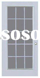 15 lites glass door,French door,tempered glass door(ISO9001:2000)
