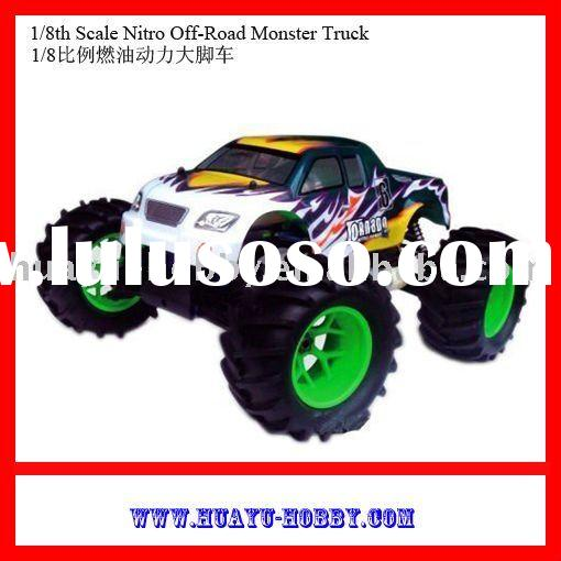 1/8th Scale Nitro Off-Road Monster Truck radio control car model toys r/c cars