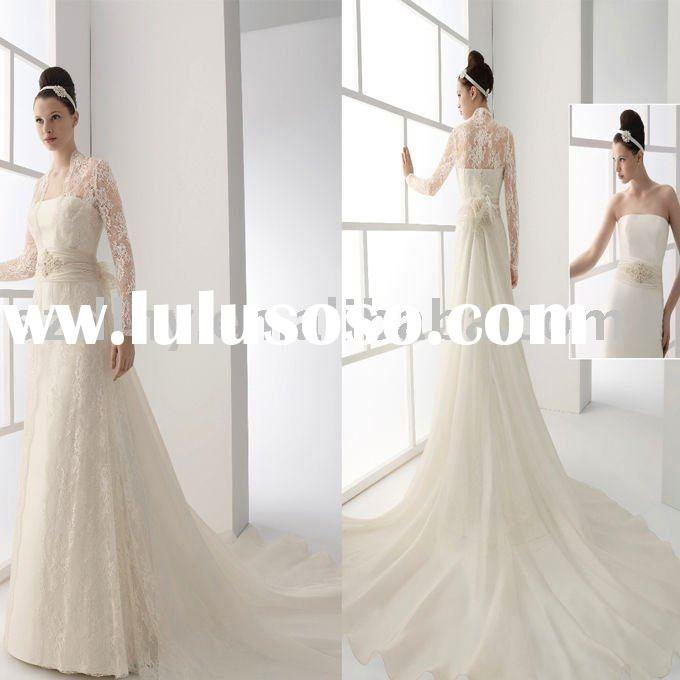 2010 collection fashion maggie hand-tailored long sleeve wedding gown TY5610