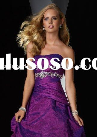 2010 hot sell purple taffeta evening dresses,prom dresses,party dresses,bridesmaid dresses,evening g