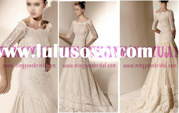 2010 lace wedding dress long sleeve wh83