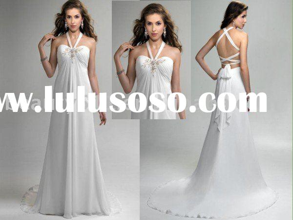 2010 new style Exquisite long-tail pregnant wedding dress bridal gown ql9952