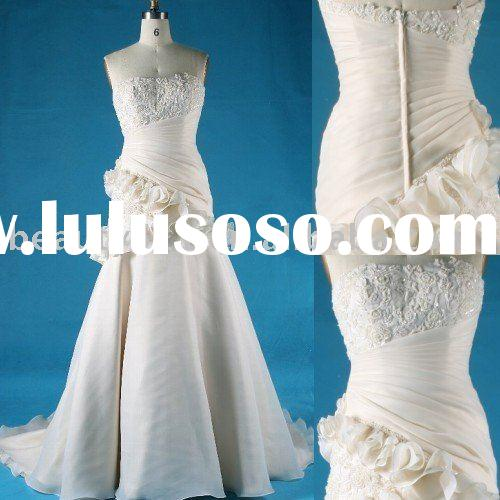 2010 swarovski crystal decorated japanese style wedding dress,bridal gown aster102529