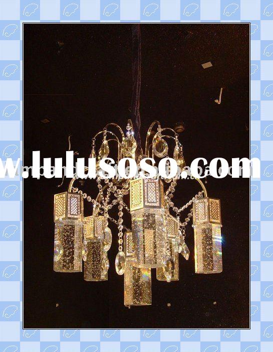 2011 Best Selling Modern Crystal+Glass Pendant Lamp Fixture MOQ20pcs Accepted