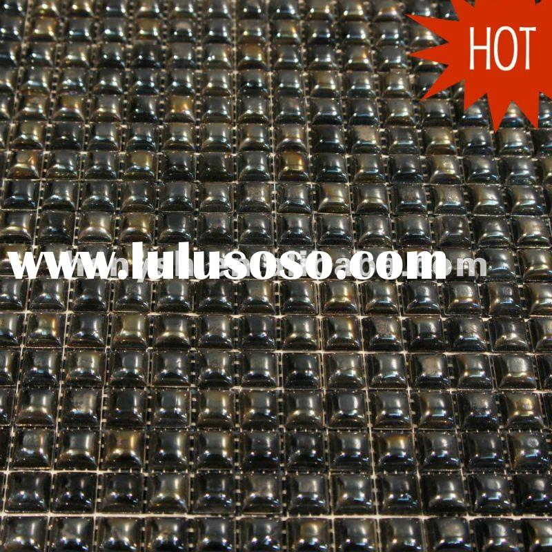 2011 Fashion Glass Mosaic,wall tile,iridescent black colors PH01 for swimming pool,spa