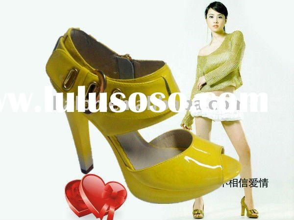 2011 Fashion Summer High heel shoes for Lady/Yellow
