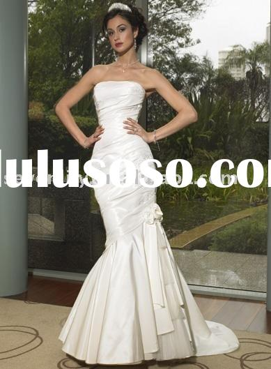 2011 New White Mermaid Style Wedding Dresses