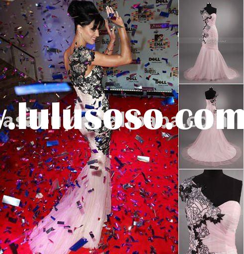 2011 New style Trumpet/Mermaid One-Shoulder Floor-length Sleeveless Taffeta Ruffles Bridesmaid Dress