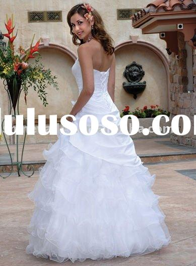2011 Puffy Popular Taffeta and Tulle Lace Bridal Gown,Wedding Dress,SH640