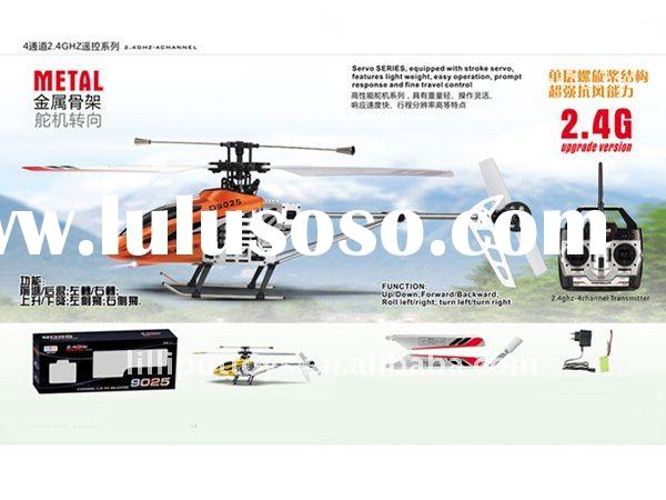 2011 hot sell 2.4G 4ch single propeller rc helicopter, Radio Control Toys