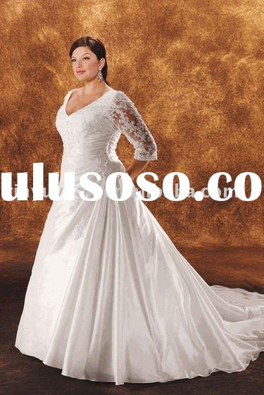 2011 long sleeves modest and vintage wedding dresses BPW-009