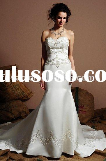2011 new elegant embroidered wedding dress bridal gowns HSEB0118 SIZE 2-28