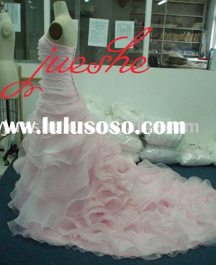 2011 strapless organza ruffle wedding dress 8595