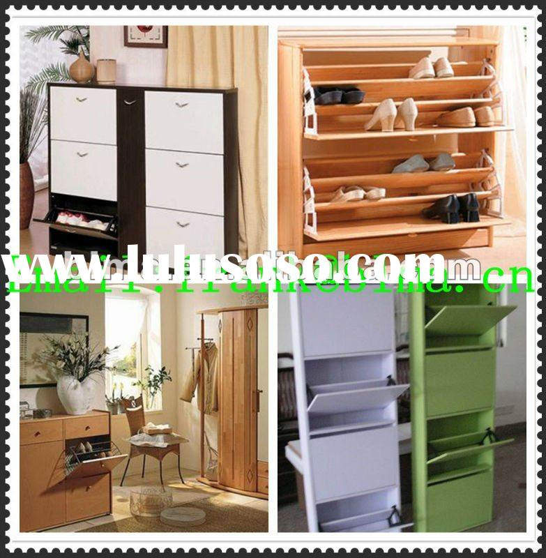 2012 HOT SALE Deodorization and Sterilization wooden shoe rack in particle board and mdf board for l