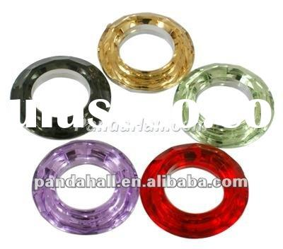 2012 Hot Sale Cabochons, Ring Acrylic Rhinestone Mix(RSB372M)