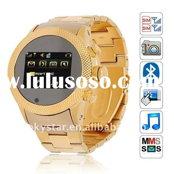 2012 Hot sale Quad band Dual sim Wrist Watch phone S766
