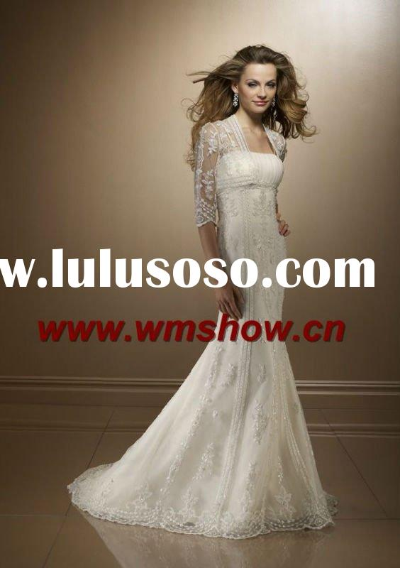 2012 Latest Style Long Sleeve Lace Wedding Dresses