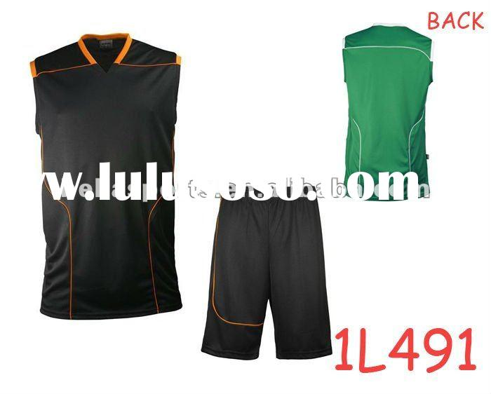 2012 NEW arrival hot style poly men's/women's/kids basketball uniform design/ shirts